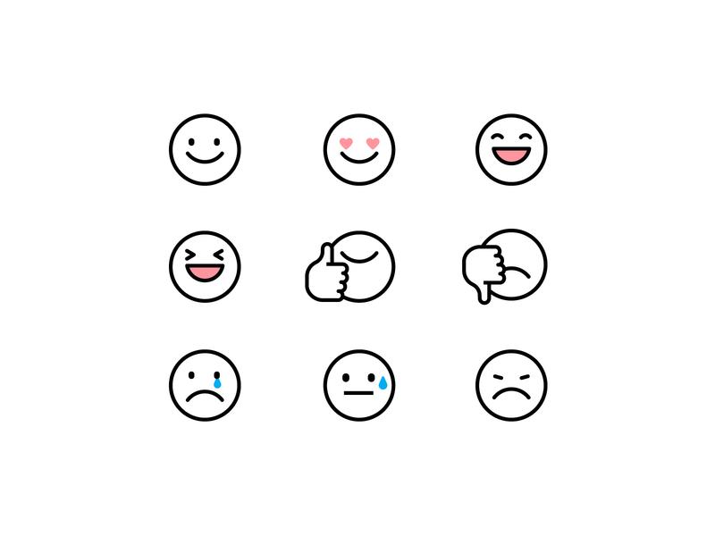 emoji emojis smileicon faceicon look smile face vector illustraion emotional expression emoji set emoticon emotion emoji
