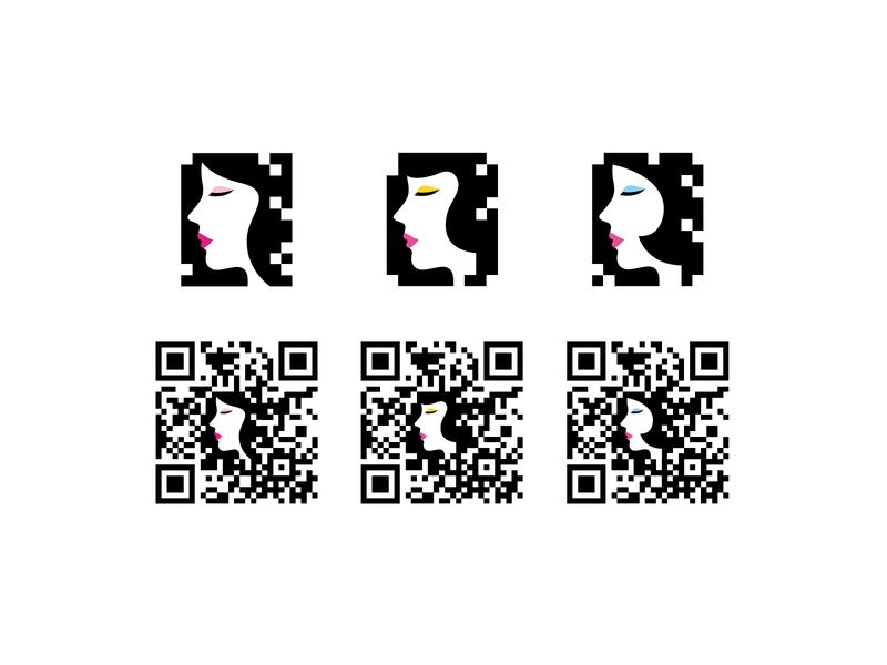 QR Code design qrcodedesign womangraphic woman illustration graphicdesign illustraion vector qrcodedsign barcode qr-code qrcode