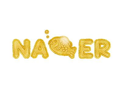 Ipdong logo korea winter winter bread a fish-shaped bun fish design vector logodesign doodle illustraion