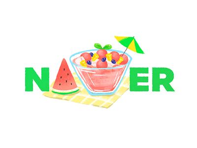 Malbok logo watermelon logo fruit summer watermelon logodesign vector illustraion doodle logo