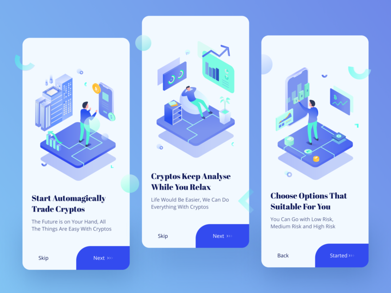 Bitcoin Apps On-Boarding Exploration bitcoin crypto exchange cryptocurrency coin financial finance statistic mobile design mobile app app analytics crypto onboarding illustration onboarding ui screen onboarding vector ui illustration design