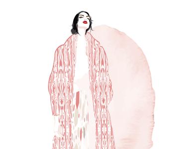 GIRL IN MARBLED COAT