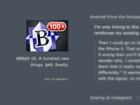 """BBEdit 10's """"The Deck"""" Ad"""