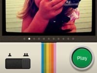 InstaGamer Game Selection UI