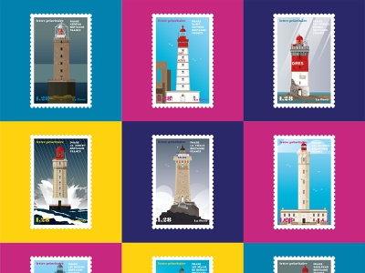 French Lighthouses 03 coasts tourism vector ocean sea lighthouse phares illustration