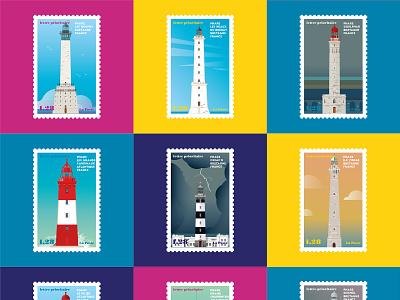 French Lighthouses 04 atlantic bretagne light buidling france coasts ocean vector illustration sea lighthouse