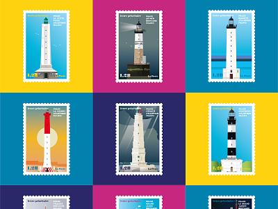 French Lighthouses 06 bretagne vector ocean sea coast france lighthouse france phares illustration