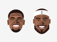 Kyrie Irving Lebron James Heads