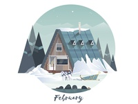 February cabin