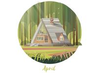 April Cabin