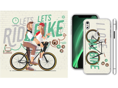 Let's bike, let's ride II outdoor freeride ride vector biking cyclist bike fixie cycling velo vélo design hipster street graffiti illustrator illustration