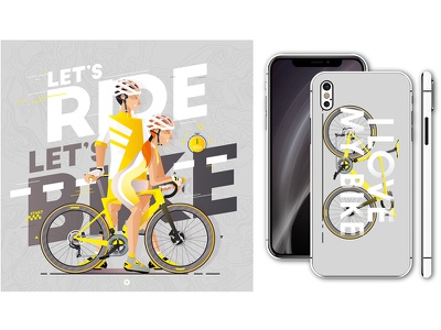 Let's bike, let's ride IV biking bicycle cycling nature outdoor speed race vélo velo bike vector illustrator illustration