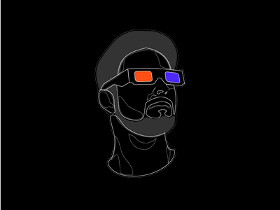 Funky 3D Goggles - Line Experimentation line art