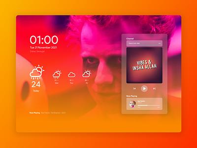 Locked Screen Exploration design music mobile