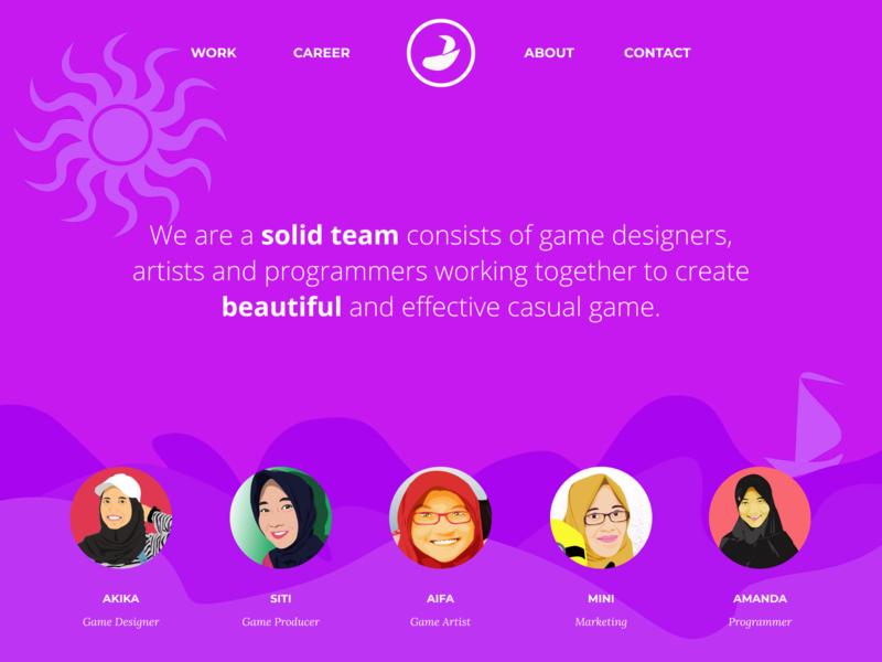 Kre.ativ Game Developer - Landing Page