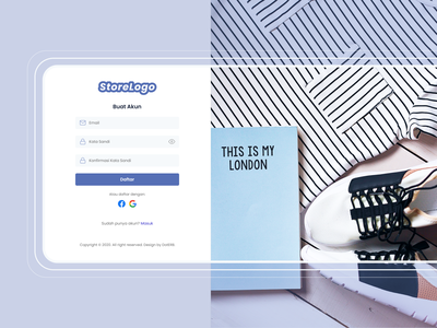 Store Front Sign Up Page - Theme 1 white clean ui clean online store ecommerce store front store signup signup page register page web design website web branding website design clean design ui illustration figma design