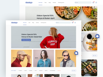 Squids - Store Front Theme 1 store page landing page layout beverages food clothing shopping store ecommerce store front web design website web branding website design clean design ui illustration figma design