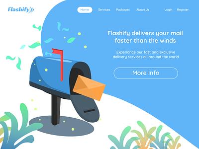 Flashify - Home Page service app delivery service homepage design homepage index page vector landing page website design design illustration art illustration figma