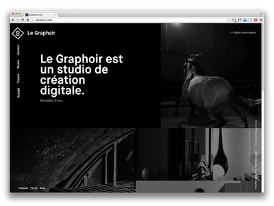 Le Graphoir homepage