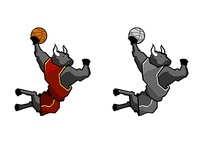 MOGBA basketball emblem