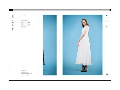 Website Le16Août — Navigation open clean white minimalist fashion