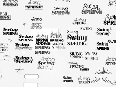 Swing Spring logo WIP swing vintage logo wip