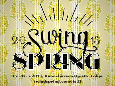Swing Spring 2015 Flyer swing dance vintage flyer logo lindy hop
