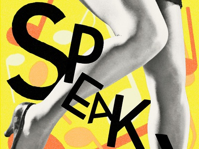'Speakeasy' -party 2015 Poster lindy hop swing dance dance feet charleston 1920s party poster