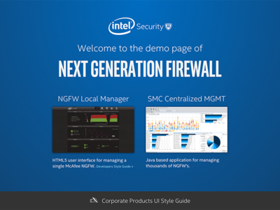 NGFW Demo Page landing page intel security responsive rwd ngfw