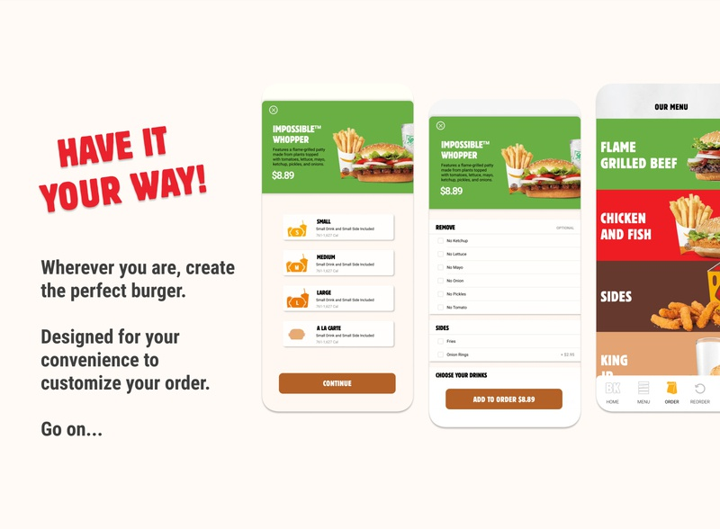 Burger King Mobile App Redesign cont.