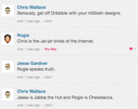 Great Dribbble Conversations