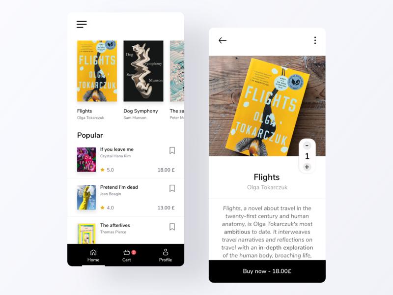 Book store app design