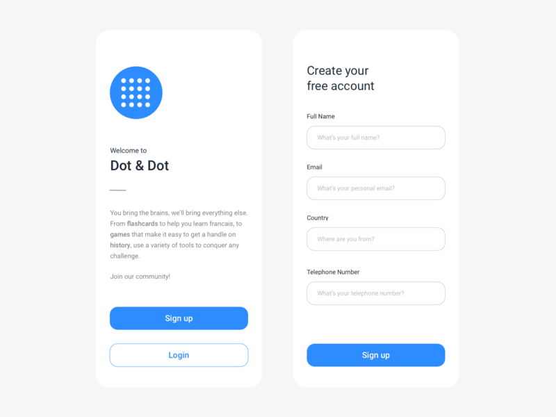 Sign up - Daily UI #11 login dailyui white layout ios sign up screen clean registration sign up form interface ui app educational sign up