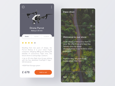 Drone direct - app design location android ios app design mockup ecommerce app eshop delivery drone eshopping shopping supplier technology mobile layout airplanes drones app ecommerce