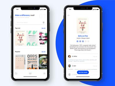 BookSharing app design