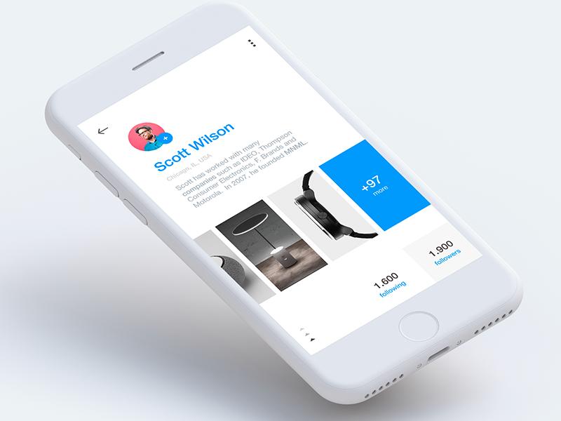 Profile Screen - iOS app by Claudio Parisi on Dribbble