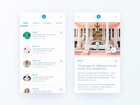 Esse Magazine - app design