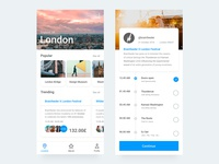 Travel Discovery app design