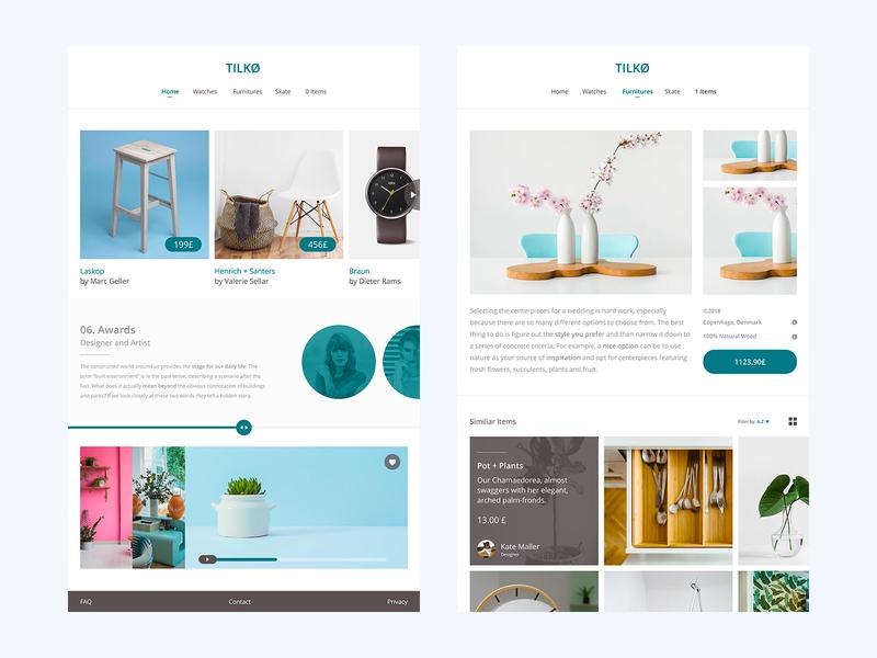 Tilkø - ecommerce website