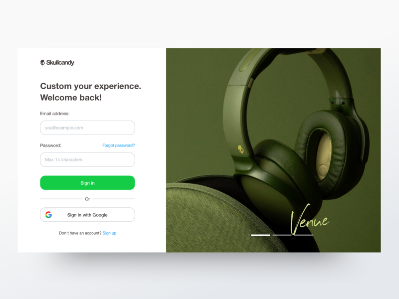 Sign in - Daily UI #01 + 1 Dribbble Invite sign in sign up product muzli dribbble invites invite giveaway sketch website skullcandy registration giveaway headphone shop music responsive web layout white interface clean