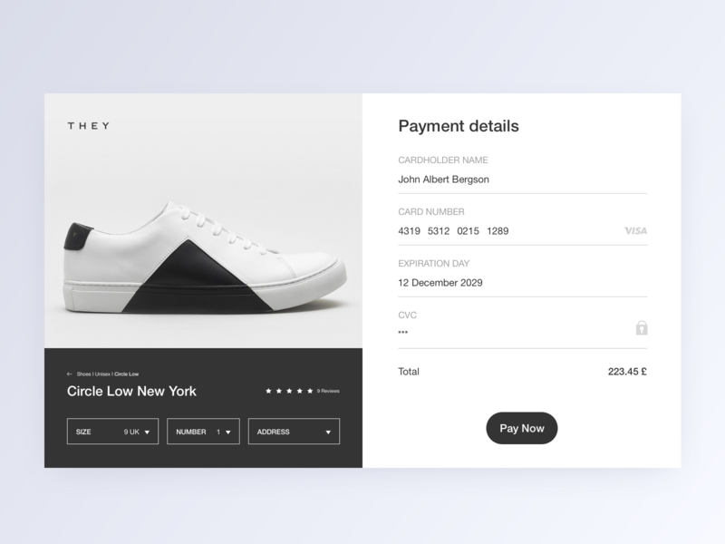 Checkout - Daily UI #02 payment form payment method webdesign web ecommerce shoe uidesign layout white checkout form checkout credit card