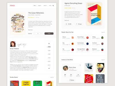 Landing Page - Daily UI #03 clean book store shop grid layout responsive white interface muzli dashboard ecommerce product books bookshop web  design