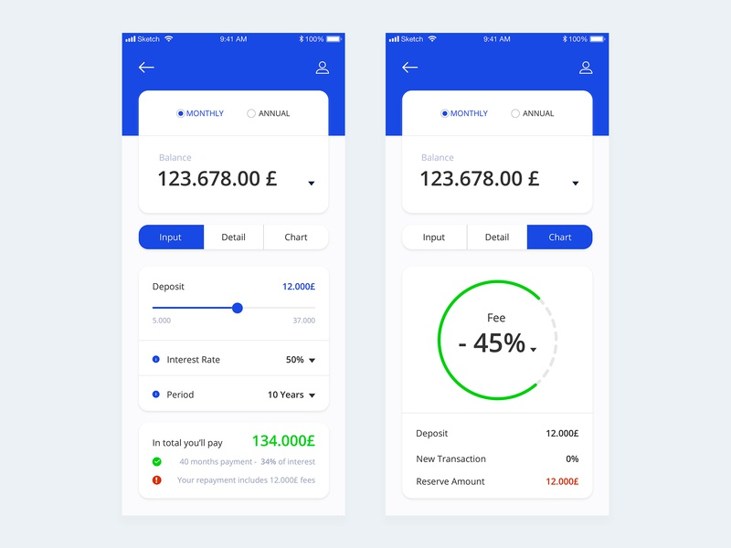 Calculator - Daily UI #04 business clean ios statistics cards rates exchange currency calculator planning banking bank app payments mortgage uidesigns ui app charts financial app
