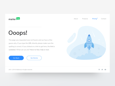 404 error page - Daily UI #08 mailchimp 404 error page 404 page mailing message errors dailyui daily 100 challenge mailbox error message error page error 404 sketch responsive layout interface clean illustration ui