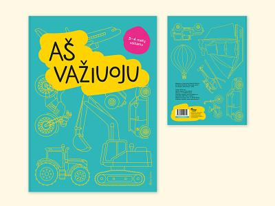 """I'm driving"" Coloring Book Design lineart vector typography publishing layout design illustrator illustration design children book cover"