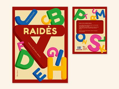 """Letters"" Children's Book Cover letters lithuania vilnius almalittera print kids typography learning vector publishing layout design illustrator children book cover illustration"