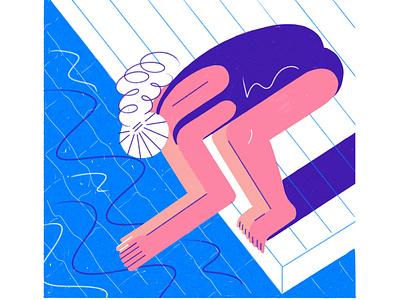 Do it! digital illustrations gigital digital illustrator digitalart do it pool water fresco adobe digital illustration illustrations 2d character 2d vector illustrator cc illustrator illustration illustrate
