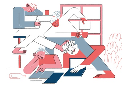 studio digital illustration startup design studio art illustrations illustrate adobe 2d vector illustrator cc illustrator illustration 2d character