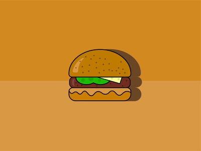 Burger Icon ux design ui design h4k8 burgericon buger graphic graphicdesign ux ui debutshot design flat hasib.h4k8 web icon illustrator logo illustration