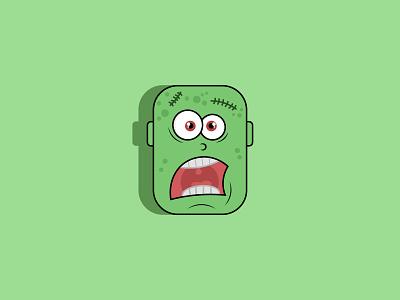 Creepy Zombie Vector ui logo illustration icon web debut illustrator flat design debutshot